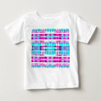 Bright Trendy Pink Teal Multicolor  Stripes Patter T Shirts
