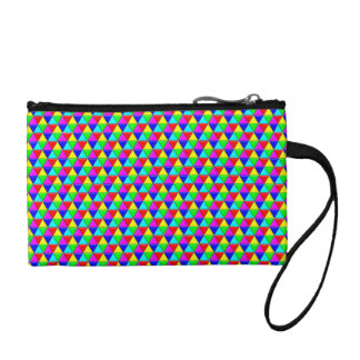 Bright triangles bag change purses