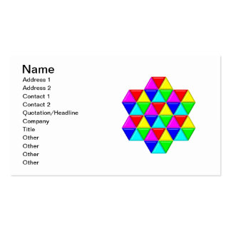 Bright triangles business card