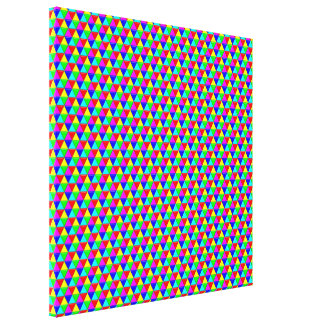 Bright triangles canvas stretched canvas print