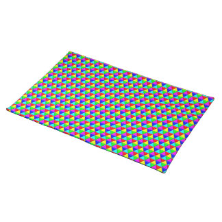 Bright triangles placemats