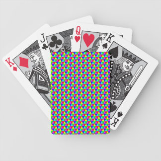 Bright triangles playing cards