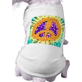 Bright Trippy Hippie Tie Dye Peace Sign Shirt