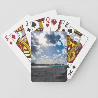 Bright Tropical Beach Poker Deck