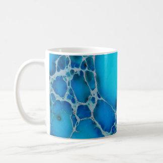 Bright Tropical Blue Healing Jasper Stone Basic White Mug