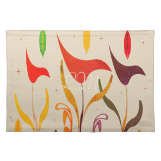 Bright Tropical Calla Lily Impression Beige Placemat