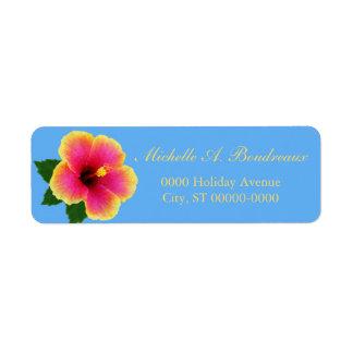 Bright Tropical Hibiscus Flower