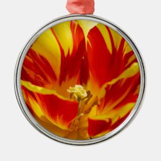 Bright tulip christmas ornament
