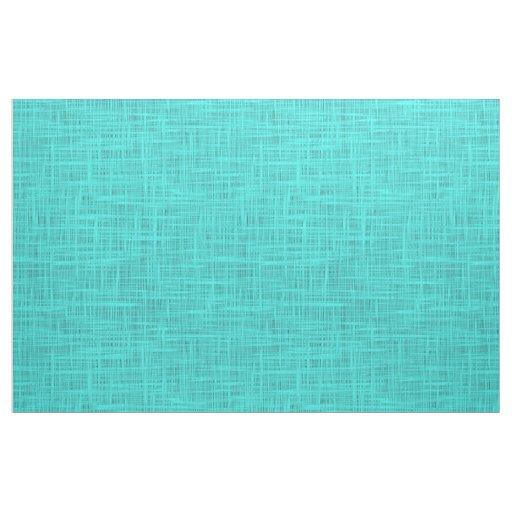 Bright Turquoise Faux Jute Textile Weave Pattern Fabric