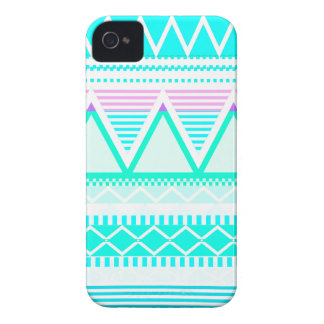 Bright Turquoise Tribal Case-Mate iPhone 4 Cases