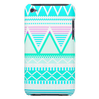 Bright Turquoise Tribal iPod Touch Cases