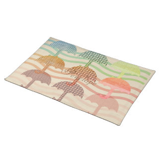 Bright Umbrellas Fall Collection Placemat