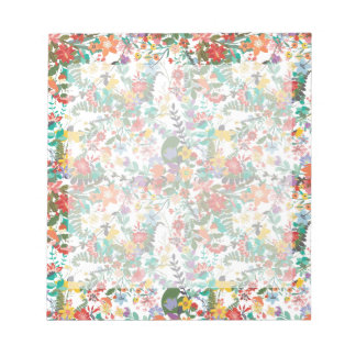 Bright Vector Flowers Pattern Notepad