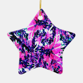 Bright, Vibrant Fashionable Print Christmas Ornament