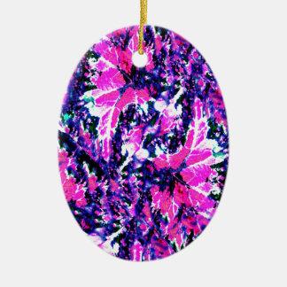 Bright, Vibrant Fashionable Print Christmas Ornament