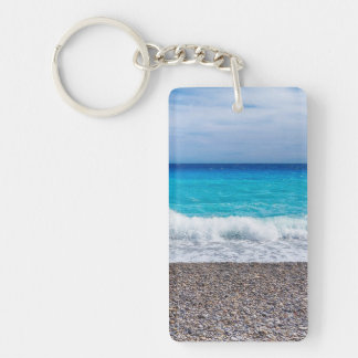Bright View of the Sea Key Ring