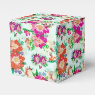 Bright Vintage Floral Pattern Favour Box