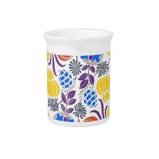 Bright Vintage Flower Pattern Drink Pitchers