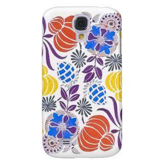 Bright Vintage Flower Pattern Galaxy S4 Case