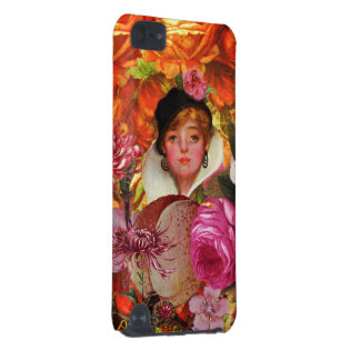 Bright Vintage Woman Flower Garden iPod Touch 5G Cases