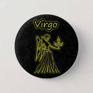 Bright Virgo 6 Cm Round Badge