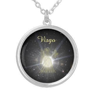 Bright Virgo Silver Plated Necklace