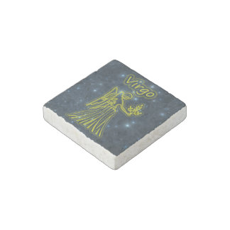 Bright Virgo Stone Magnet