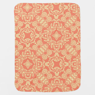 Bright warm background in vintage style. baby blanket