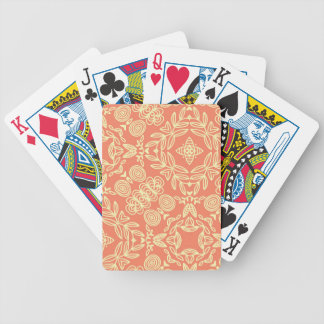 Bright warm background in vintage style. bicycle playing cards