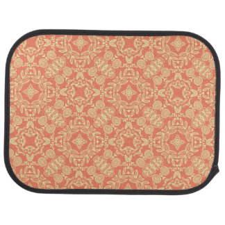 Bright warm background in vintage style. car mat
