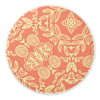 Bright warm background in vintage style. ceramic knob