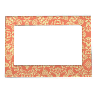 Bright warm background in vintage style. frame magnet