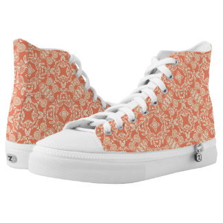 Bright warm background in vintage style. high tops
