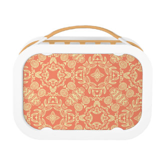 Bright warm background in vintage style. lunch box
