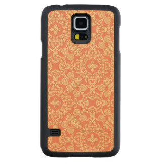Bright warm background in vintage style. maple galaxy s5 slim case