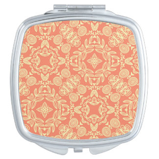 Bright warm background in vintage style. mirrors for makeup