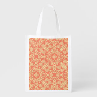 Bright warm background in vintage style. reusable grocery bag