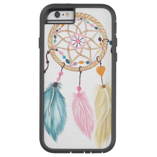Bright watercolor boho dreamcatcher feathers tough xtreme iPhone