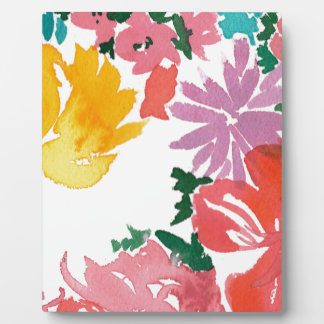Bright Watercolor Floral Customisable Notebook Plaque