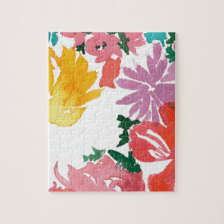 Bright Watercolor Floral Customizable Notebook Puzzles
