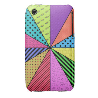 Bright Wedges of Pattern iPhone 3 Case-Mate Case