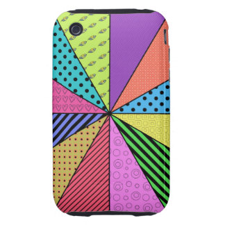 Bright Wedges of Pattern iPhone 3 Tough Case