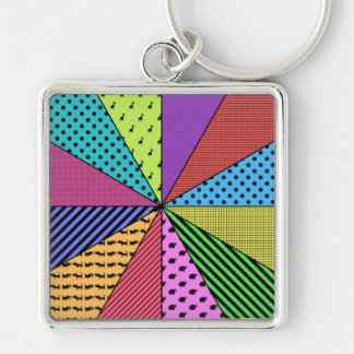 Bright Wedges of Pattern Key Chains