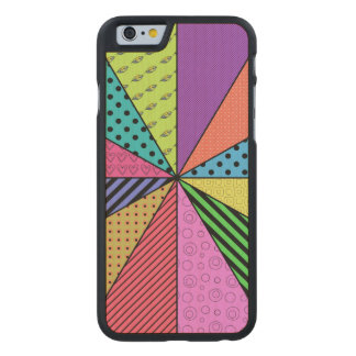 Bright Wedges of Pattern Carved® Maple iPhone 6 Slim Case