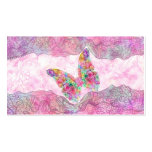 Bright Whimsical Pink Watercolor Paisley Butterfly Pack Of Standard Business Cards