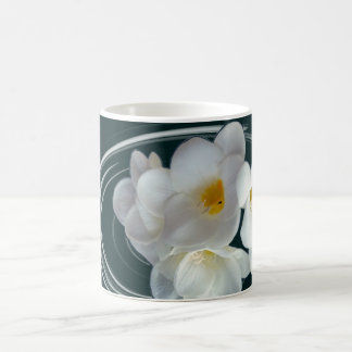 bright white freesia coffee mug