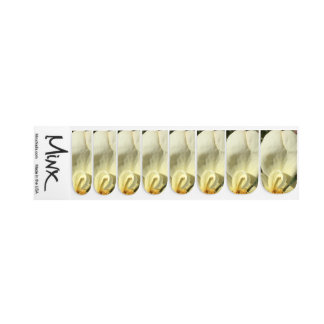 Bright White Petal Minx Nail Art