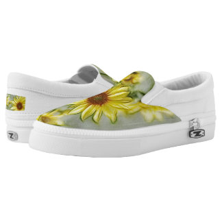 Bright Wild Sunflower Slip-On Printed Shoes