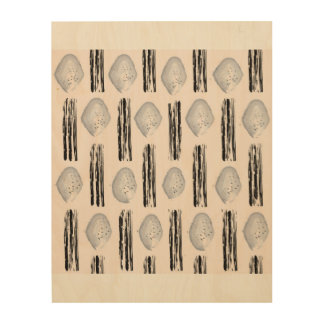 Bright wood with stamps wood wall art