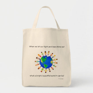Bright World Tote Bag